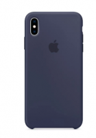 Чехол Apple Silicone Case для iPhone XS, тёмно-синий